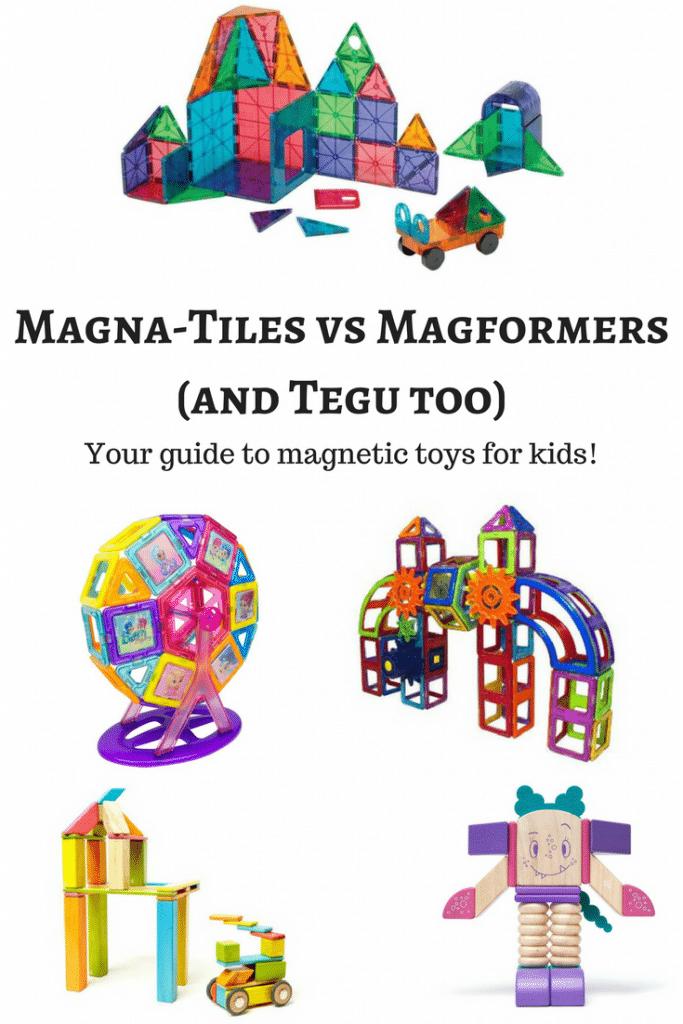 Magna-Tiles vs Magformers (and Tegu too)