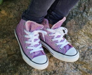 Purple Jersey Knit Converse